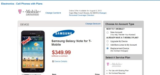 Tmobile Galaxy Note No Contract $349