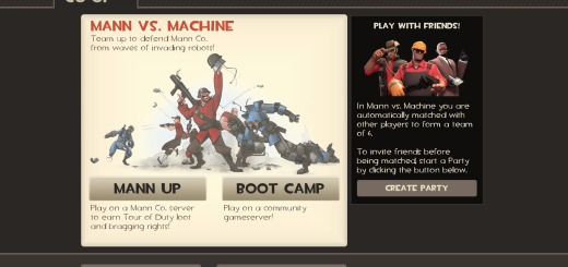 Team Fortress 2 - Mann vs Machine Co-op Screen