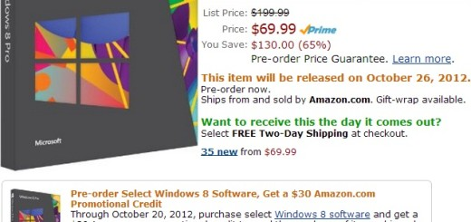 Windows 8 Preorder Amazon